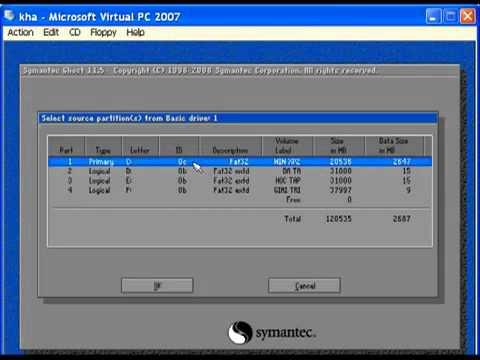 Hướng dẫn ghost máy tính bằng Video