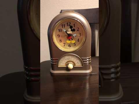 Seiko 1987 Disney Mickey Mouse Musical Alarm Clock