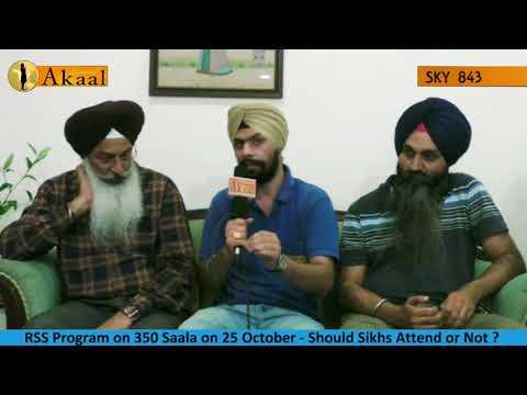 Panthak Sewa Dal on RSS Program in Delhi on 350 Saala