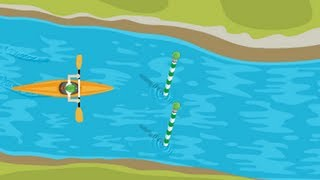 London 2012 Slalom Canoe  Google Doodle