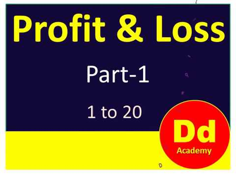 Profit & Loss  1 to 20   P 1
