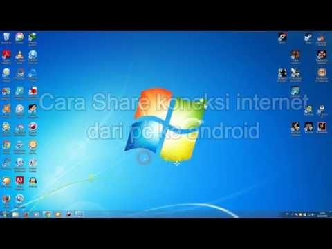 Share internet dari pc ke hp android via usb