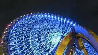 大阪のおすすめ夜景【天保山の大観覧車】4Kタイムラプスムービー