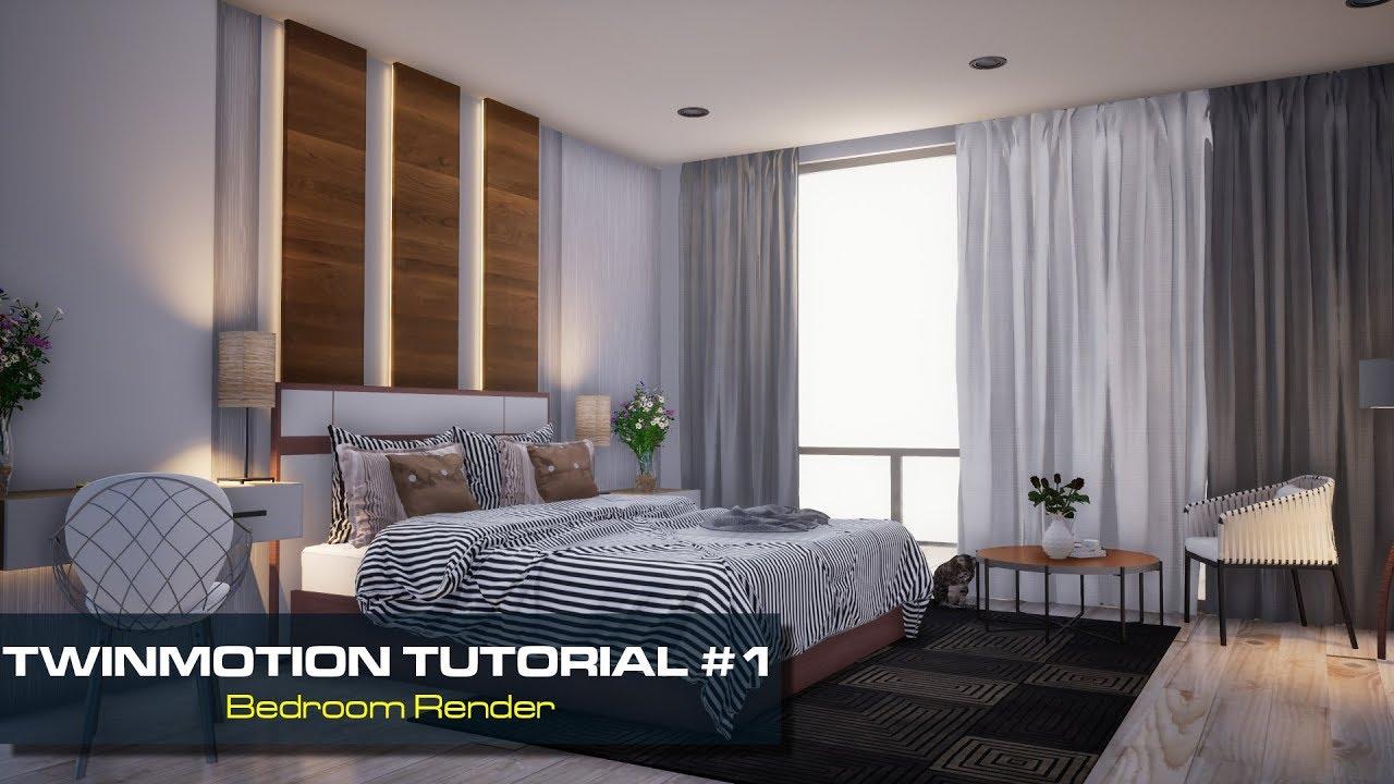 Tutorial 1 Twinmotion 2018 Bedroom Render Youtube