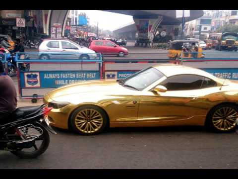 Gold Wrapped Bmw Z4 L Spotted In The City Streets L By