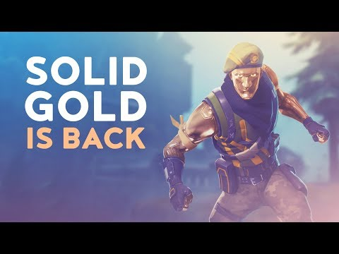 SOLID GOLD IS BACK! (Fortnite Battle Royale)