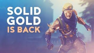 SOLID GOLD IS BACK! (Fortnite Battle Royale)