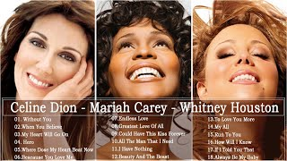 Mariah Carey, Celine Dion, Whitney Houston Great Hits 2020 - The Best Songs Of World