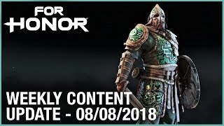 For Honor: Week 8/8/2018 | Weekly Content Update | Ubisoft [NA]