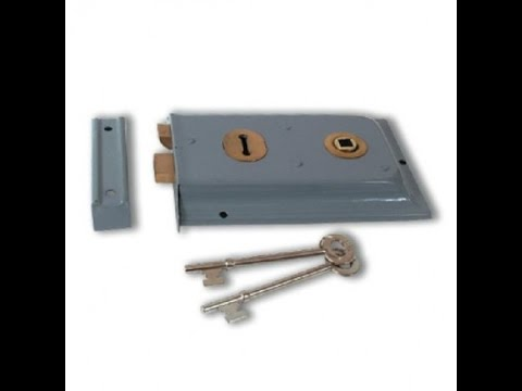 Teardown of a 2 lever lock very easy to pick mortise external mounted lock