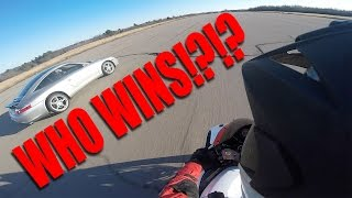 Porsche vs Sportbike | Abandoned Runway Battle