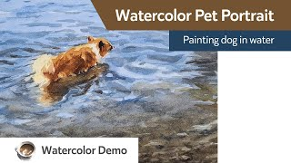 Watercolor pet portrait - dog …