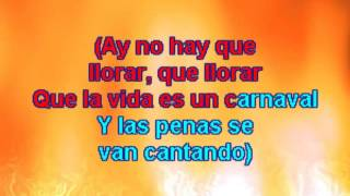 Karaoke Celia Cruz - La vida es un Carnaval