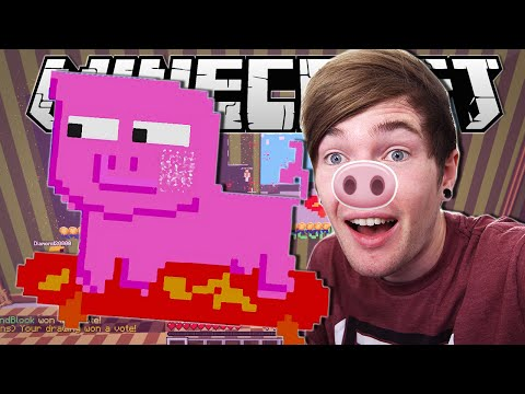Minecraft   A SKATEBOARDING PIG!!   Pixel Painters Minigame