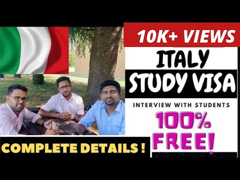 STUDY IN ITALY 2021 !!! ഇറ്റലിയിൽ  സൗജന്യമായി എങ്ങനെ പഠിക്കാം ?!? Study Visa Details In Malayalam  