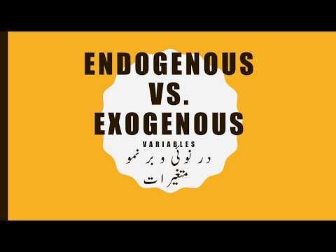 Exo Endogenous Variables