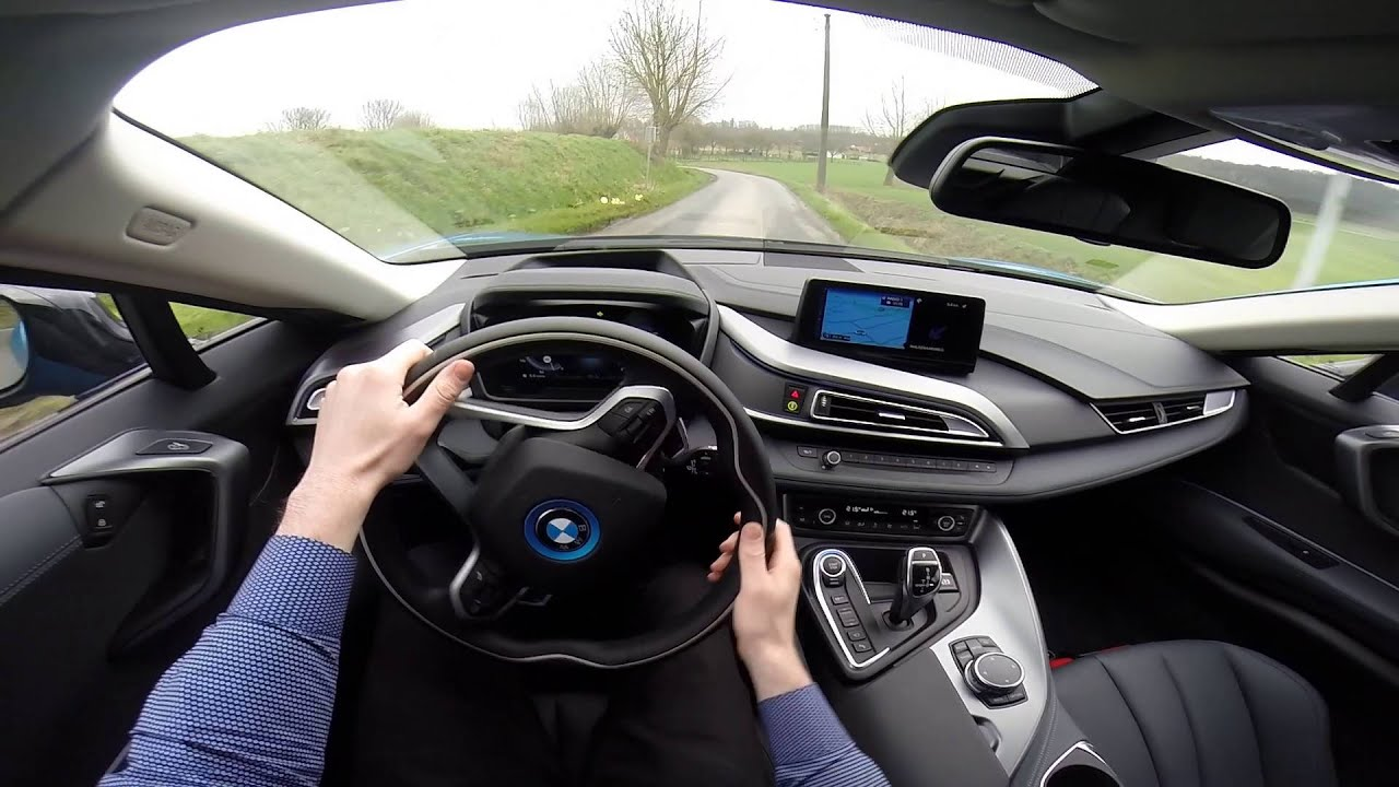 BMW i8 362HP POV test drive GoPro - YouTube