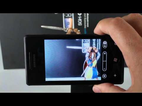 Samsung Omnia 7 camera UI