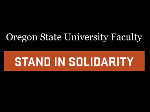 Oregon State University Stands In Solidarity