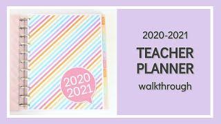 2020-2021 Teacher Planner Walkthrough (Ideal for Secondary Teachers)