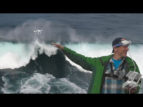 Filming tsunami-like waves with Phantom 4 Pro on Sao Miguel, Azores islands