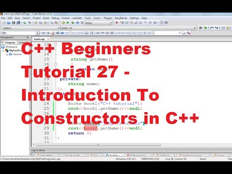C++ Tutorial for Beginners 27 - Introduction To Constructors in C++