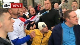 Violence erupts at anti-Muslim rally