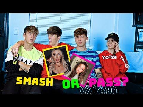 SMASH Or PASS (Youtuber Edition) Ft. Bryce Hall, Joey Birlem, & Tayler Holder