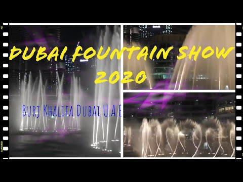 Dubai Fountain Show 2020//Burj Khalifa U.A.E/DUBAI 2020