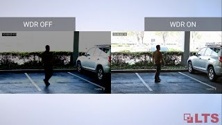Wide dynamic range (wdr) gives an ip or hd-tvi security camera the ability to see great details in difficult contrasting lit conditions. lts provides hdtv...