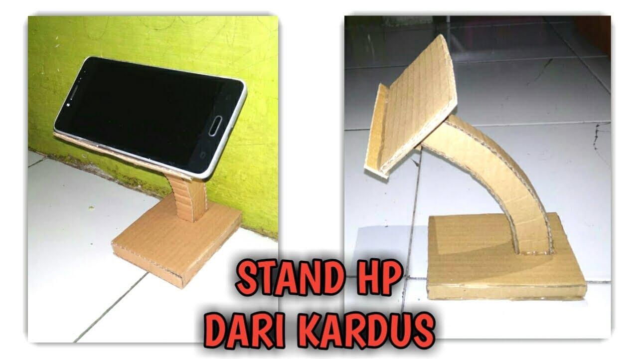 Cara mudah membuat stand hp dari kardus
