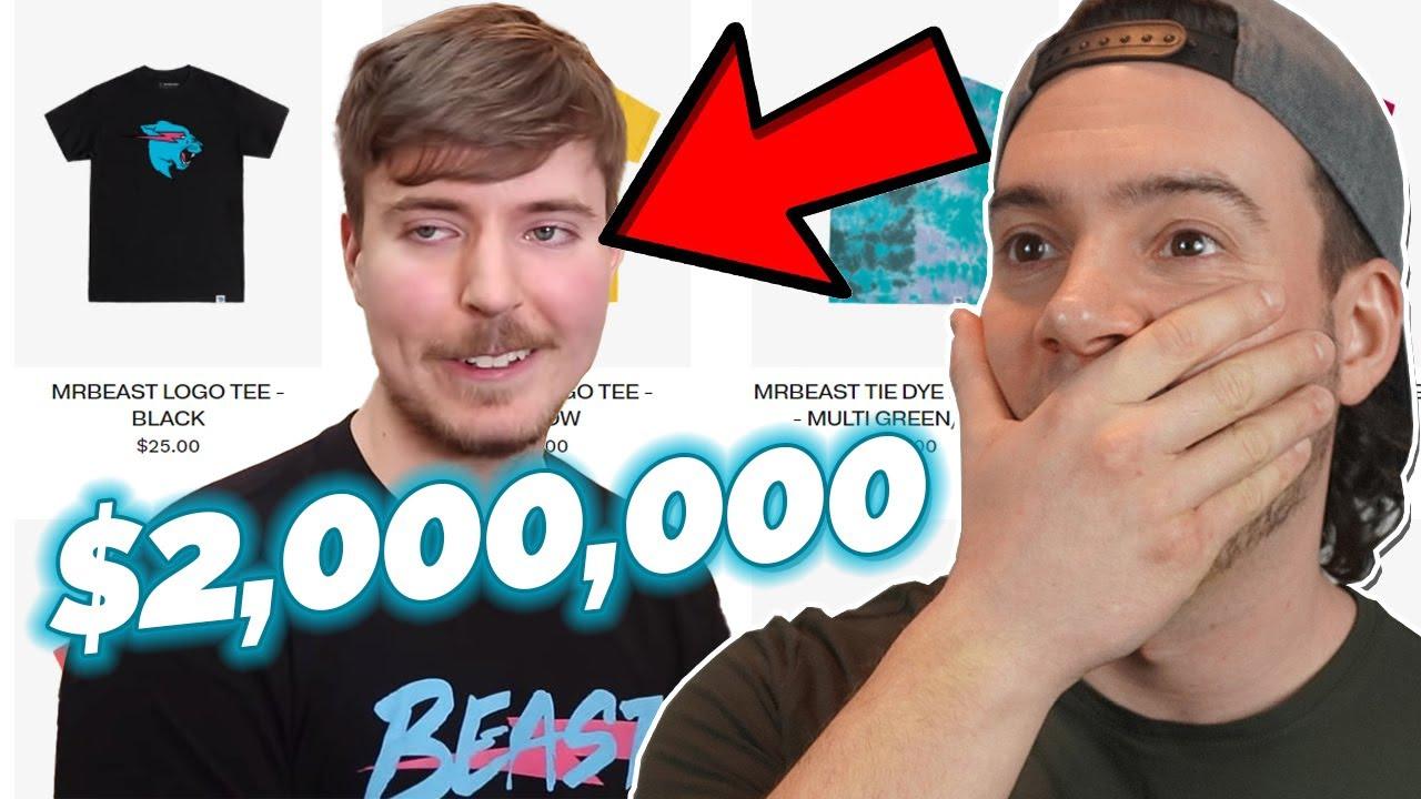 $2 MILLION in T-Shirt Sales in ONE WEEK! [MrBeast Reaction]