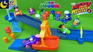Mickey and the Roadster Racers Race Track Play Set Supercharged Cars PJ Masks Mashems Surprise Toys
