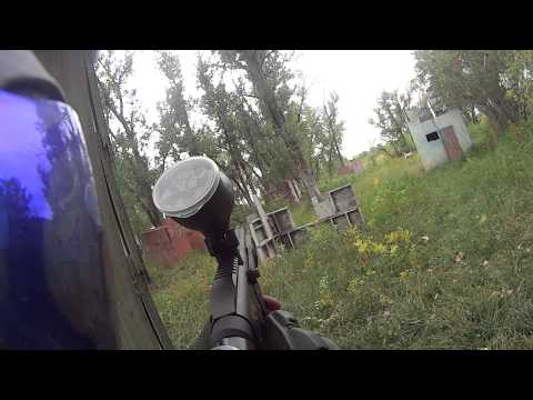 Pump play at T-E paintball in Great Falls MT.