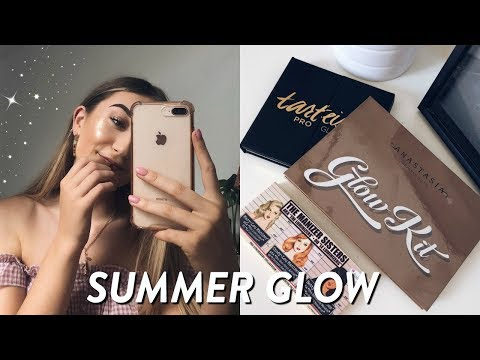 HOW TO GET THE PERFECT SUMMER GLOW // FAVOURITE HIGHLIGHTERS ft. Strawberrynet