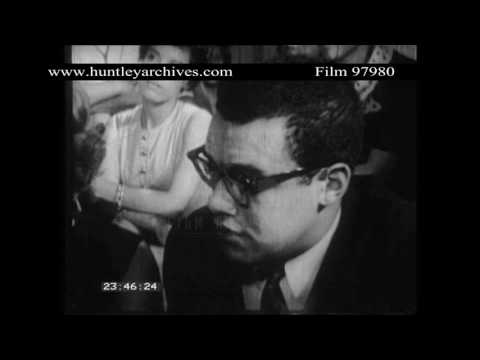 Wealthy middle class blacks in Los Angeles, 1960's.  Archive film 97980