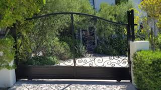Modern Wrought Iron Gate| Mulholland Security Los Angeles 1.800.562.5770