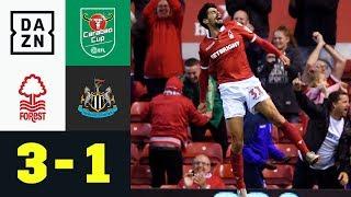 Absoluter Wahnsinn in der Nachspielzeit: Nottingham  - Newcastle 3:1 | Carabao Cup | DAZN Highlights