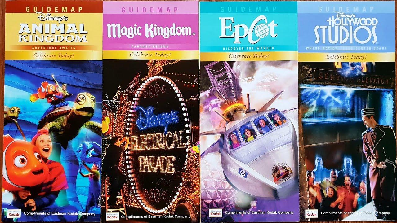 Theme Park Map Monday Disney World Episode 34 Animal & Magic Kingdom,  Hollywood Studios, Epcot 2010