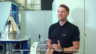 TRUMPF: Ask the Expert – TruPrint peripheral equipment – depowdering station