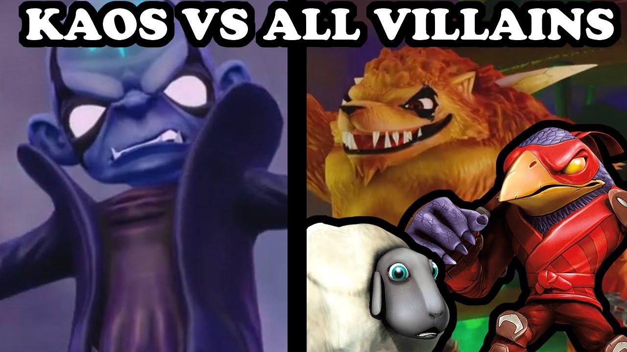 Skylanders Trap Team - Kaos VS All Villains - ULTIMATE ...
