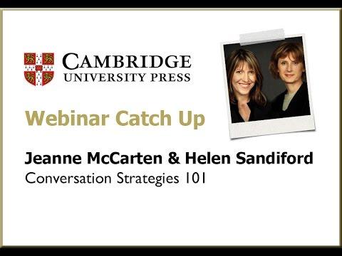 Conversation strategies 101 with Jeanne McCarten and Helen Sandiford