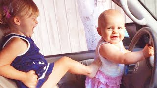 Funny Baby Siblings Playing Together  Funny Baby Videos