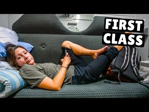 First Class OVERNIGHT TRAIN Georgia to Azerbaijan (scary border crossing)