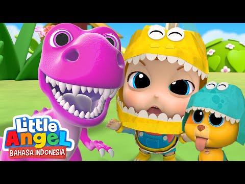 Bayi Dino Berpesta! | Lagu Dinosaurus Anak | Little Angel Bahasa Indonesia