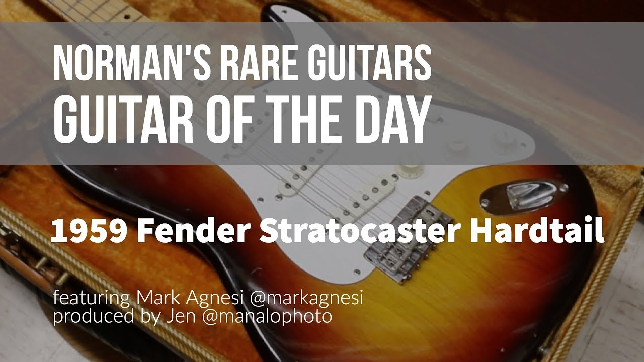 Norman's Rare Guitars - Guitar of the Day: 1959 Fender Stratocaster Hardtail