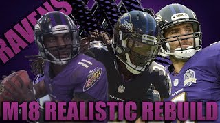 The Greatest Play in Nfl History! Realistic Rebuilding of The Baltimore Ravens   Madden 18 Franchise