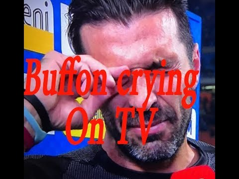 Buffon crying and Retires From Italy after missing the world cup in Russia 2018