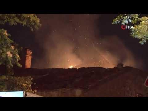 Tarihi fabrikada yangın çıktı