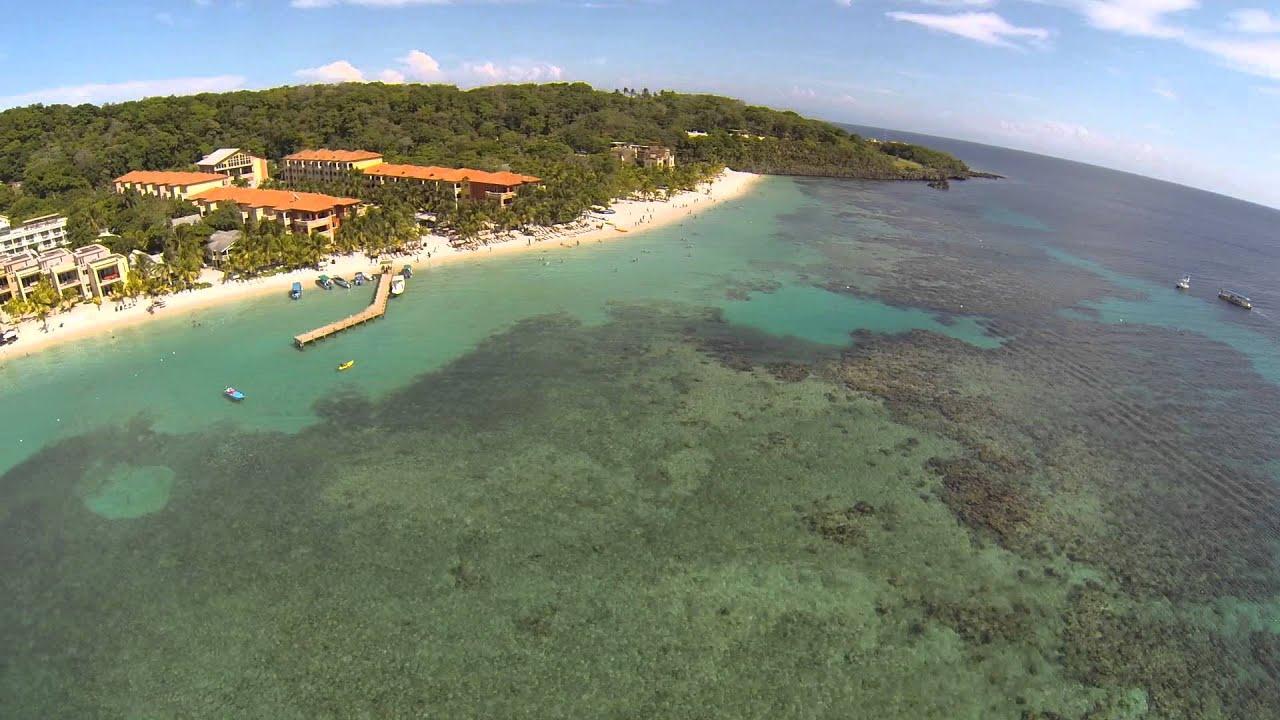 West Bay Beach, Honduras Roatan Aerial Tour - YouTube